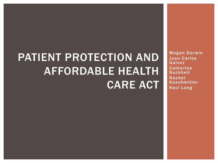 patient protection and affordable health care act n.