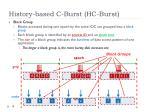 history based c burst hc burst2