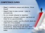 competence cures