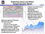 exploring cause and effect simple dynamic model