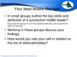 your ideal middle manager
