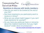 communicating your end of life wishes