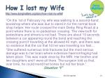 how i lost my wife http www dyingmatters org story how i lost my wife