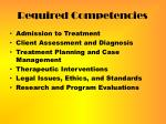 required competencies