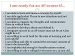i am ready for an ap course if