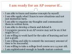 i am ready for an ap course if1