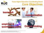 texas higher education coordinating board core objectives
