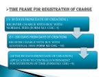 time frame for registration of charge
