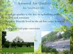 assured air q uality f or healthier life
