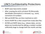 lincs confidentiality protections1