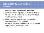 group activity instructions handout 5 3