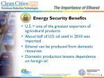 energy security benefits