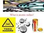 what is atomic radius