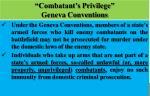 combatant s privilege geneva conventions