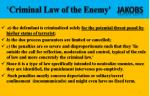 criminal law of the enemy jakobs