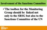 involvement of the sanctions committee