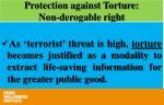 protection against torture non derogable right