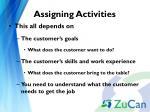 assigning activities1