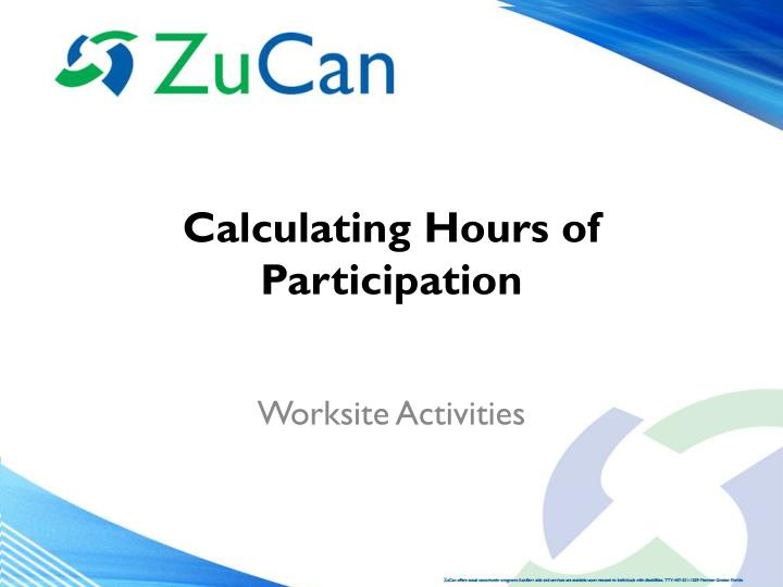 calculating hours of participation n.