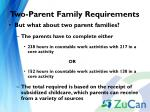 two parent family requirements1