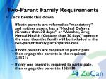 two parent family requirements2