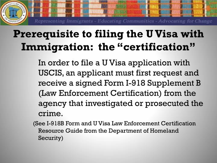PPT - The U Visa for Immigrant Crime Victims PowerPoint Presentation ...