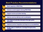 best practice recommendations