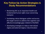 key follow up action strategies study recommendations