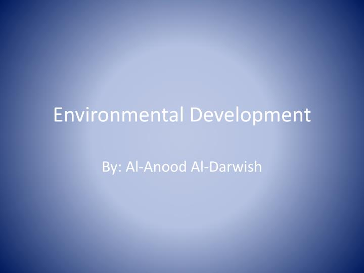 environmental development n.