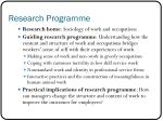 research programme