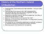 history of the northern ireland ombudsman