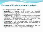 process of environmental analysis