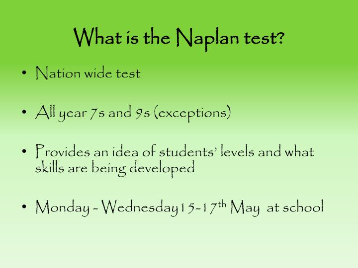 what is the naplan test n.