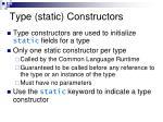 type static constructors