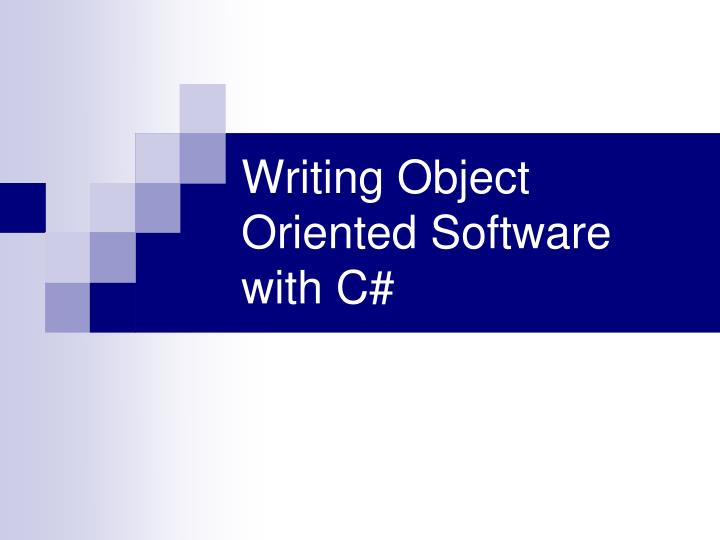 writing object oriented software with c n.