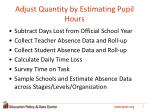 adjust quantity by estimating pupil hours