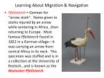 learning about migration navigation