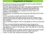 arguments in favour