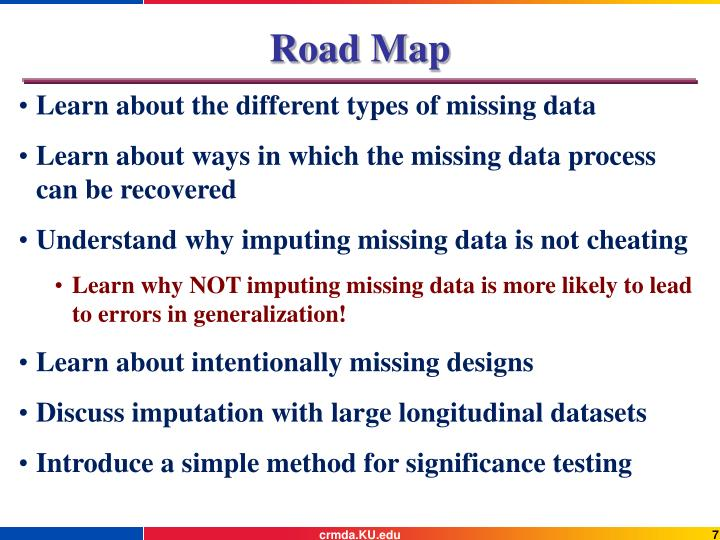 Learn about the different types of missing data