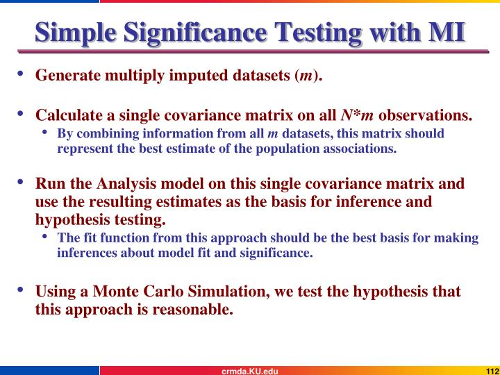 Simple Significance Testing with MI