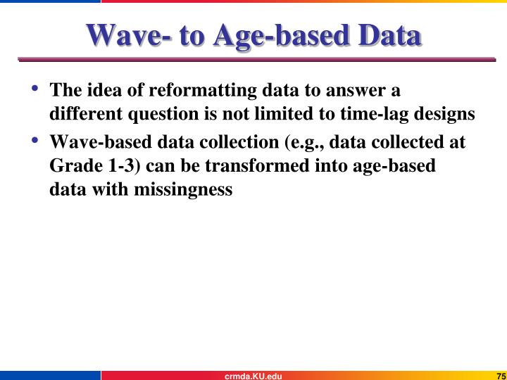 Wave- to Age-based Data