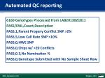 automated qc reporting