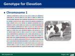 genotype for elevation