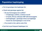 population haplotyping