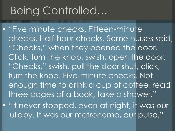 Being Controlled…