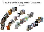 security and privacy threat discovery cards