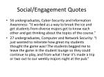 social engagement quotes