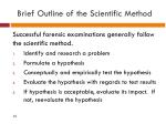 brief outline of the scientific method