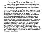 sample character ization