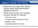 station design and setup